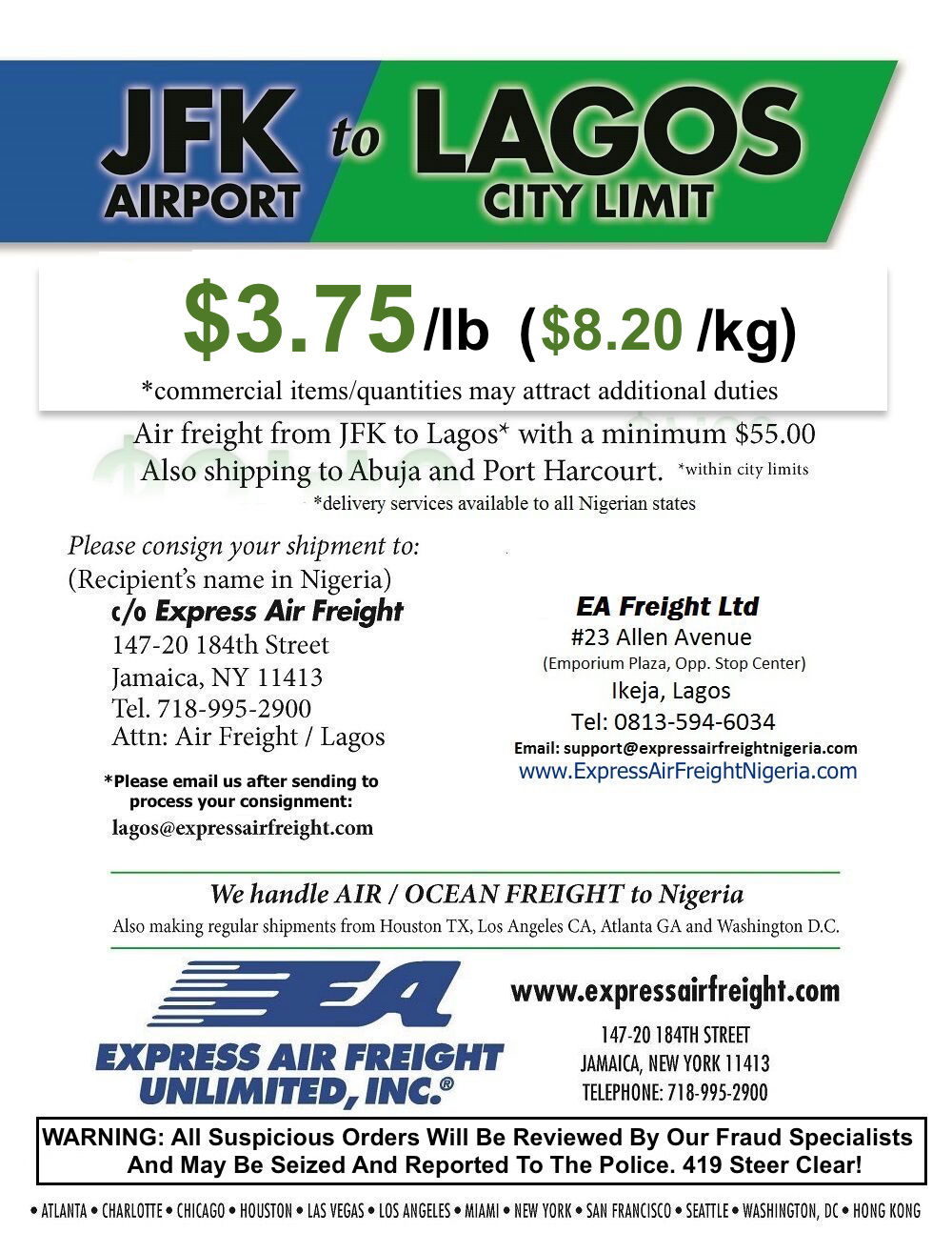 Express Air Freight Nigeria – Efficiency, Reliability And Speed